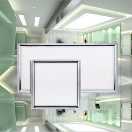 ce ul white frame led panel lights 600x600mm 36w 48w 54w 60w flat led ceiling panel light led recessed ceiling panel light ac85265v