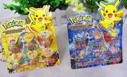 Teachers sTamps online shopping - 12set Anime Pikachu Cartoon Seal Stamper teacher stamp set craft stamps kids stamp DIY best gifts