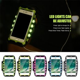 Discount universal led cover - 5.5 inch Universal LED Light Glow Armband Phone Case For IPhone 7 7 Plus 6 Plus 6S Plus 6 6S GYM Sport Running Cover Bag