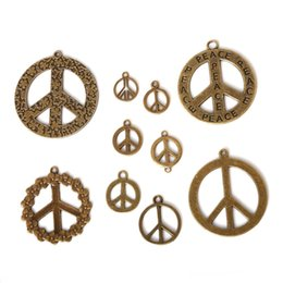 $enCountryForm.capitalKeyWord NZ - Free shipping New 56pcs lot Mixed Style Zinc Alloy Antique Bronze Plated Peace Sign Charms Pendants Diy Jewelry Handmade Crafts jewelry mak