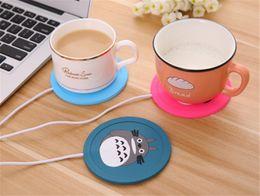 Usb Tea Cup Warmer Australia - Cup Mug Pad Warmer Heater Cartoon 5V USB Silicone Heater for Milk Tea Coffee Mug Hot Drinks Beverage Cup Mat Pad best gift