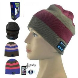 Bluetooth golf hat online shopping - 4 Colors Wireless Bluetooth Beanies Sport Music Hat Smart Headset Cap Warm Winter Hat With Mic Speaker For All Smart Phones CCA7469