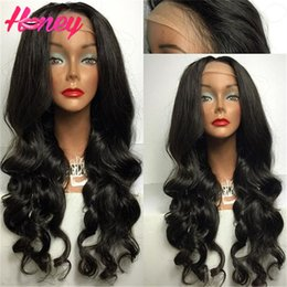 Indian Body Wave Lace Front Wig Canada - Body Wave Full lace human hair Wigs Virgin indian 130 Density Full Lace Wig Unprocessed Glueless Front lace Wigs