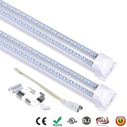 $enCountryForm.capitalKeyWord NZ - led tube 8 ft V-Shaped Cooler Door Led Tubes T8 Integrated Double Sides SMD2835 Led Fluorescent Lights AC 85-265V 2.4m 60w