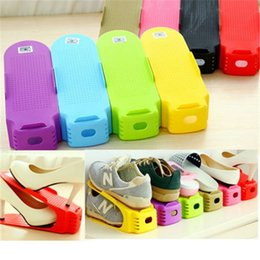 Living cLean online shopping - Colorful Stand Shelf Plastic Easy To Clean Shoe Rack Durable Unadjustable Storage Shoes Holder New Arrival jt B R
