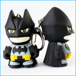 $enCountryForm.capitalKeyWord NZ - Superhero Batman keychain, Led keychains with sound, Flashlight key chain figure keyrings,Cool batman key Ring