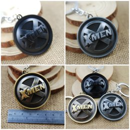 Superhero Keychains Canada - The Avengers Superhero X-Men Letter Fashion Keychain For Men Women Friends X MEN Keycahin Children Key Rings Free DHL K33L