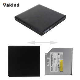 Discount black dvd rom Wholesale- Black Portable Slim USB3.0 SATA Exteranal ODD HDD Device for Mac Laptop Netbook Support CD-ROM DVD-ROM CD-R R