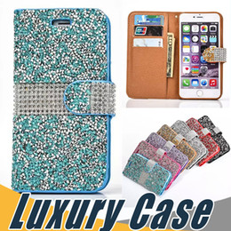 China Crystal Rhinestone Wallet Case Bling Glitter Diamond Flip Cover For iPhone X 8 7 6S 6 Plus SE 5S Sumsung S8 Plus S7 Edge Note 8 suppliers