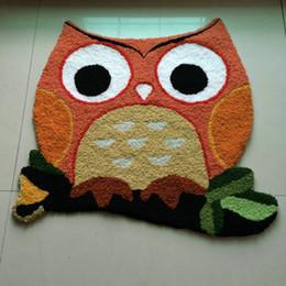 $enCountryForm.capitalKeyWord Canada - Hand Hooked Halloween Owl Pattern Mat Living Door Mats Carpet Supplies, Embroidered Porch Doormat Floor Rug Home Decoration Festival Gift