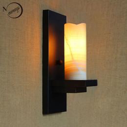 $enCountryForm.capitalKeyWord NZ - vintage retro black metal glass lampshade wall lamp for Bathroom Vanity Lights porch night light fixture sconce bar