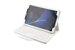 Cubierta de la caja de cuero desmontable ultra delgada de la cartera del teclado de Bluetooth para Samsung TabA T580