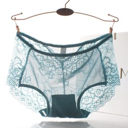 Barato Bragas Mais Tamanho-Nova Hot Sale Sexy Lace Mulheres Tanga Underwear Lure Transparente Hipster Mulheres Briefs Cute Plus Size Sexy Underwear Mulheres Bragas L XL XXL