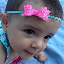 feelings hairs 2019 - HOT! 15% off! Baby Glitter Felt bowknot Headband Hair Bands Baby Shining hair bows headband hair Accessories 10 Colors o