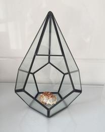 $enCountryForm.capitalKeyWord NZ - Handmade Bonsai Pyramid Style Vertebral Metal Glass Geometric Terrarium Succulent Fern Moss Tabletop Planter Terrarium Box Micro Landscape