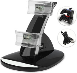 Charger Cradle doCk doCking station online shopping - DUAL New arrival LED USB ChargeDock Docking Cradle Station Stand for wireless Sony Playstation PS4 Game Controller Charger