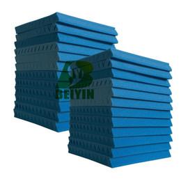 24 Piezas Azul Espuma Acústica Panel de Cuña Absorción de Sonido Esponjas Estudio Estudio de Grabación Insonoro Tratamiento Acústico 12x12x1