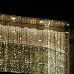 4M*4M 512 LED Indoor Outdoor Curtain String Light Christmas Xmas Fairy Wedding Party Decoration Supplies 220v 110v US AU EU UK Plug & Shop Plug Fairy Lights Uk UK | Plug Fairy Lights Uk free delivery to ...