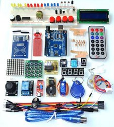 China Wholesale-Upgraded Advanced Version Starter Kit the RFID learn Suite Kit LCD 1602 for Arduino UNO R3 cheap lcd learn suppliers