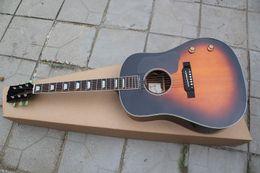 Опт Оптовая гитара ручной работы, классика 41 дюйм, цвет дерева 6 струнная, на заказ 160E, стиль акустическая электрогитара, винтажный цвет солнечных лучей