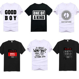 Men S Clothes Canada - men s clothing designer t shirts bigbang cotton one of a kind good boy made letterS XXL popular casual tee shirts short sleeves