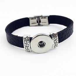 Chinese  Fashion Direct Selling New Sterling Jewelry Jewelry Bracelets For Retro Leather Snap Button Bracelet Bt105 ( Fit 18mm 20mm Snaps) party dres manufacturers