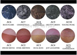 Marcas De Sombra De Ojos Baratos-120pcs-Fábrica al por mayor a estrenar Mc Cosmetics Mineralized Single Eye Shadow Duo Pressed Powder 10 colores en nombre inglés, envío gratis de DHL