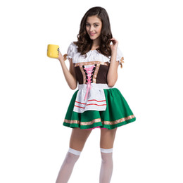 Barato Trajes De Carnaval Feminino-Womens Traditional German Bavarian Beer Girl Costume Sexy Oktoberfest Festival Carnival Party Fancy Cosplay Dress