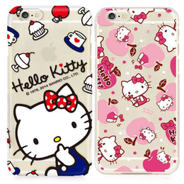 hello cell phones 2019 - For Apple iphone 7 plus 6 6S plus SE silicone case 40th anniversary Hello kitty ultra thin Plating TPU paint cell phone