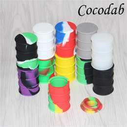 Discount hash pens wholesale Small 26ml dab wax silicone oil drum wax vaporizer pen silicone jar butane hash oil silicone bho container