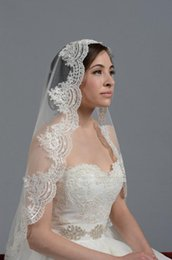 Embroidered Elbow Length Veils NZ - New Arrival Libeier Bridal Wedding Veil White Ivory 80cm Lace Edge Accessories Short Design Single Elbow length Without Comb Elegant 1 Layer