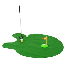 $enCountryForm.capitalKeyWord Canada - 576pcs Wholesale- Bathroom Funny Golf Toilet Time Mini Game Play Putter Novelty Gag Gift Mat Set