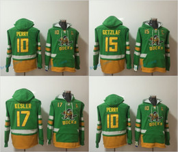0fbe4988f ... Anaheim Ducks Hoodies 17 Ryan Kesler 10 Corey Perry 15 Ryan Getzlaf Ice  Hockey Hoody Green ...