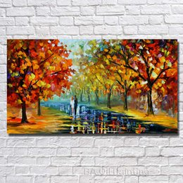 cheap home paintings NZ - Nice Home Decor Landscape Wall Art Modern Living Room Decoration Hand Painted Cheap Oil Painting on Canvas No Framed