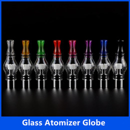 wax vaporizer cartomizer electronic cigarette NZ - Glass Atomizer Globe Pyrex Glass Tank Wax Coil Wax vaporizer Bulb Glass Globe Electronic Cigarette Cartomizer For eGo Evod