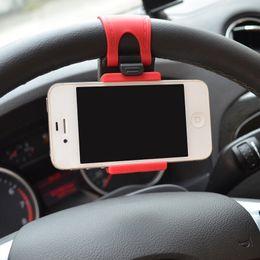 $enCountryForm.capitalKeyWord Canada - Car Mount, Universal Car Steering Wheel Cellphone Holder Clip Car Bike Mount Stand Flexible Phone Holder extend to 86mm