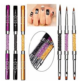 Double sided nail art pens online double sided nail art pens for wholesale volodia 1 piece professiional double side uv gel brush acrylic brush head nail art design brushes acrylic gel pen with cap prinsesfo Gallery