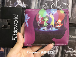 Fresh Movies Canada - Cute Children Cartoon Wallets Comics Movie INSIDE OUT Purse Small Leather Wallets For Boys Girls Coin Money Bag Vallet