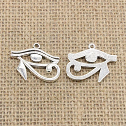 $enCountryForm.capitalKeyWord NZ - Wholesale 32pcs Charms Tibetan Silver Antique Bronze plated ancient egypt eye of Horus 33*27mm Pendant for Jewelry DIY Hand Made Fitting