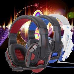Großhandel 3,5 mm Surround Stereo Gaming Headset Stirnband Kopfhörer mit Mikrofon für PC