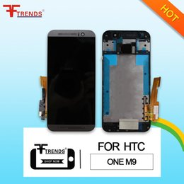 Lcd Touch Screen Housing NZ - High Quality A+++ for HTC One M9 LCD Display & Touch Screen Digitizer with Front Frame Housing Full Assembly Dropshipping