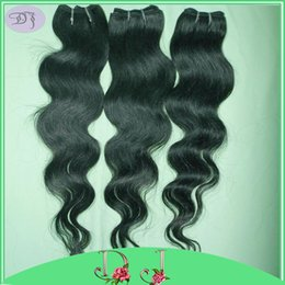 $enCountryForm.capitalKeyWord Canada - 3pcs lot wholesale prices Cheapest Brazilian body wave Hair Bundle deals Soft lovely hair Dark Black Weave DHL shipping