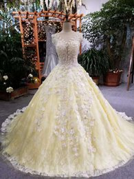 Barato Vestido De Bola Elegante Noite Real-2017 Custom Made Evening Dresses Long Lace Ball Gown Lace up Voltar Abendkleider Lang Elegante Fotos reais Amarelo Evening Party Dresses