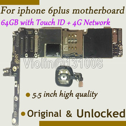 Original Iphone Motherboard Canada - Wholesale-For Iphone 6 5.5inch motherboard 64GB for iphone 6 plus mainboard 100% Original with fingerprint function working,100%working