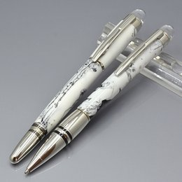 stars clouds NZ - Luxury Star walker series white Cloud stone Roller ball pen with Stationery school office supplies writing smooth MB brand Ballpoint pens