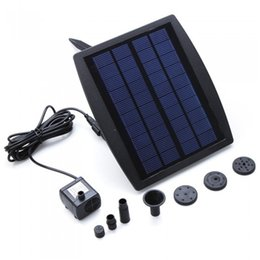 Chinese  9V 2.5W Solar Power Panel Landscape Pool Solar Pump Garden Fountains Plable Solar Power Fountain Water Pump CE RoHS manufacturers
