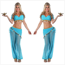 woman exotic clothes NZ - Sexy Women Belly Dance Costumes Transparent Chiffon Sequin Fancy Dress Exotic Style Indian Dance Stage Performance Clothing