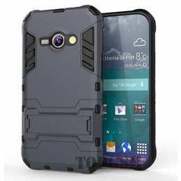 Advance Plastic Case Canada - J1 Ace Cases Robot-Bear Dual Layer Protective Hybird Armor Case Slim Fit Advanced Shock Absorption Protection & Kick-Stand For Galaxy J1 Ace
