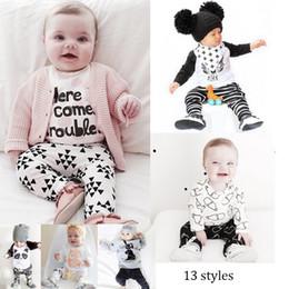 $enCountryForm.capitalKeyWord NZ - Ins Hot Baby clothes Cute Cartoon Boys Suits Girls Outfit Summer Sets New 2016 Cotton Tops + Harem Pants 2Pcs Set