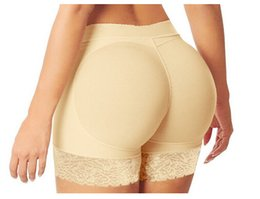 Abundante Ropa Interior De Nalgas Baratos-Venta al por mayor-S-2XL Mujeres Abundantes Nalgas Bragas Sexy Bragas Nalga Backside Bum relleno Butt Lifters Enhancer Hip Up Boxers Ropa interior